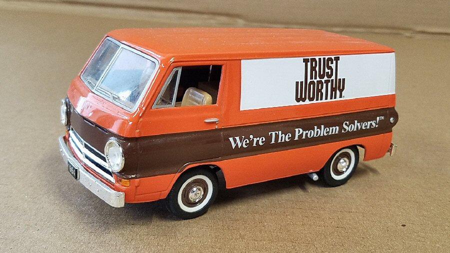 SpecCast 1/25th Scale Dodge Van Bank - TrustWorthy Stores Edition