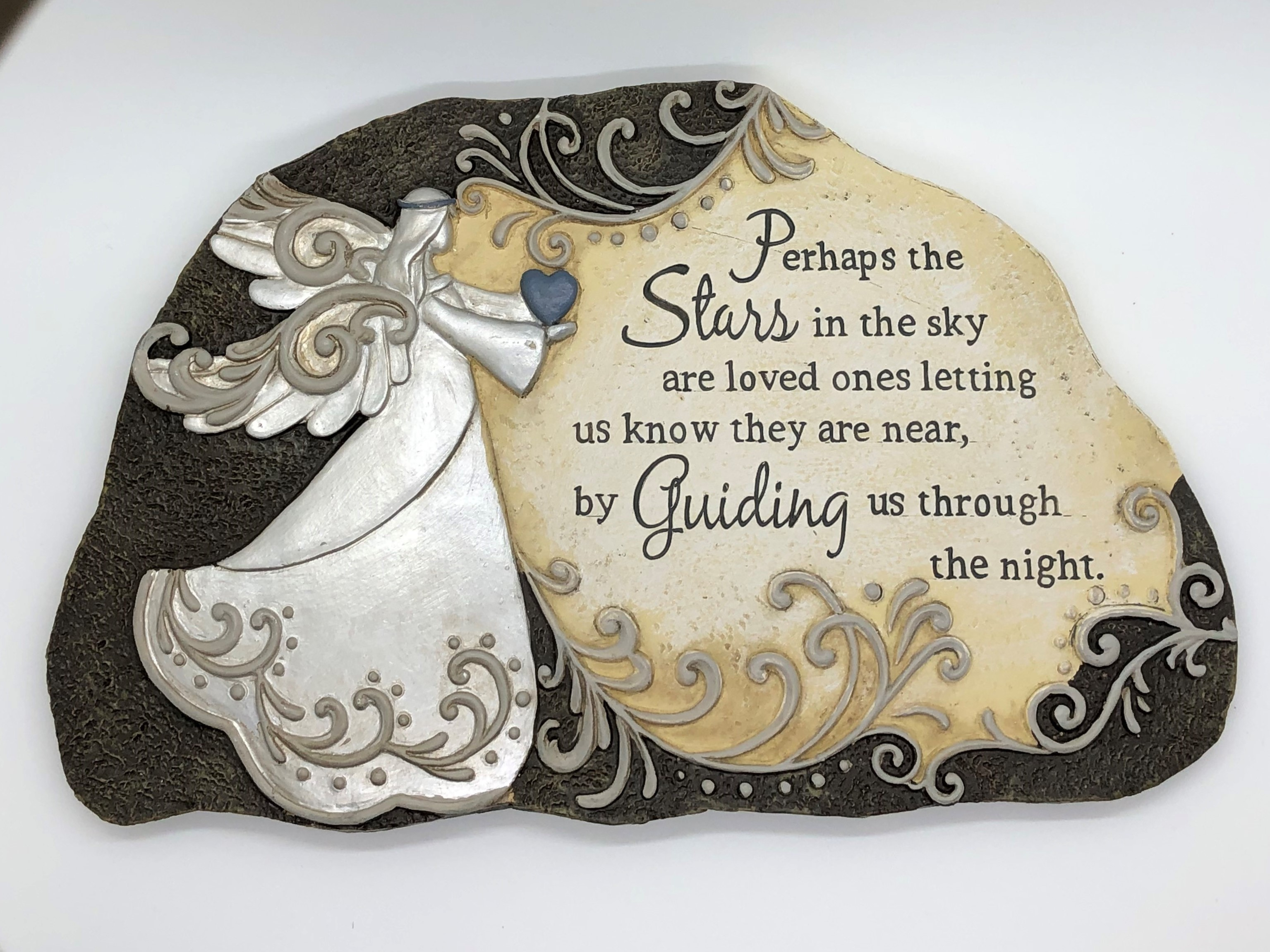 Garden Plaque Stepping Stones ~ Perhaps the stars in the sky are loved ones letting us know they are near, by guiding us through the night