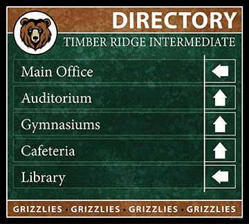 5 Line School Directory