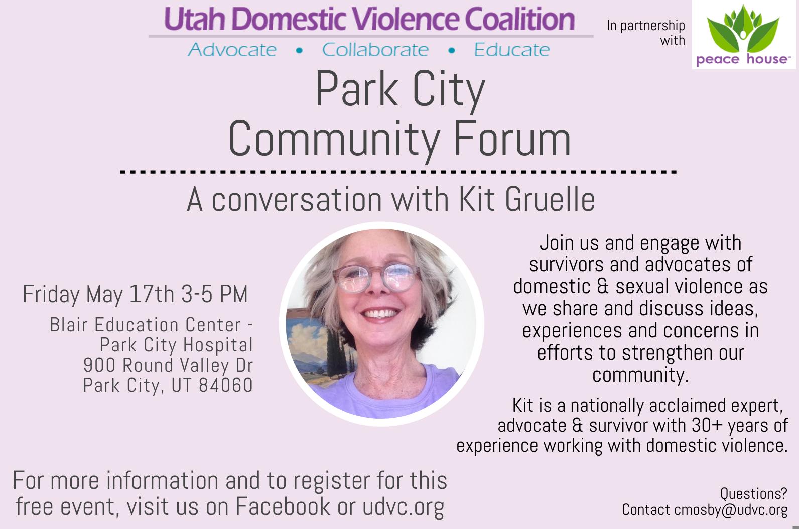 Park City Community Forum | A Conversation with Kit Gruelle