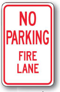 No Parking Fire Lane-12 inch x 18 inch