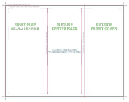 Trifold Brochure with Bleeds