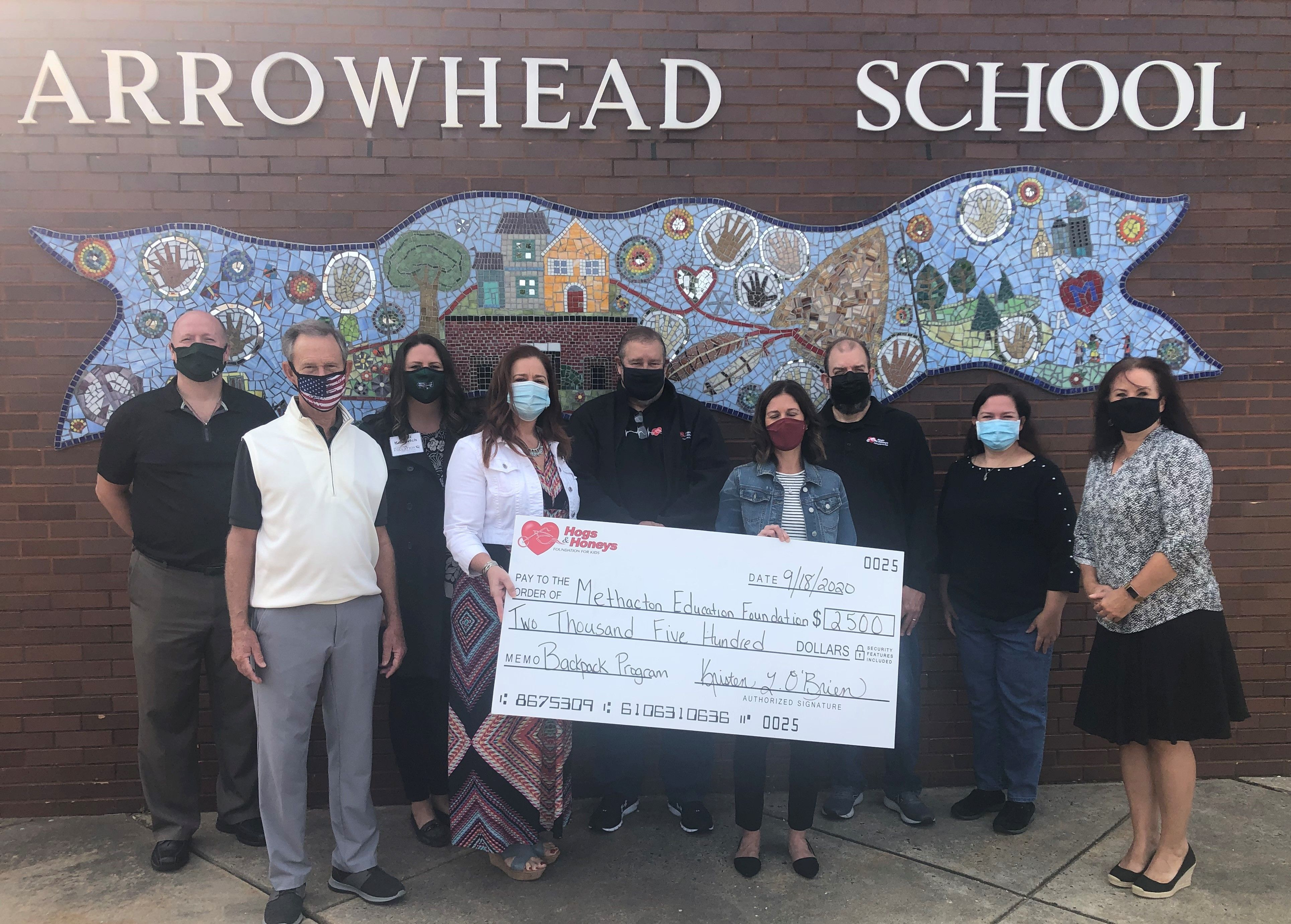 Hogs and Honeys Foundation for Kids Donates $2,500 for Methacton COVID-19 Relief