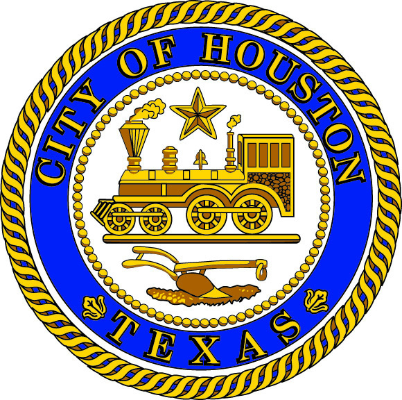 DP-1540 - Carved Plaque of the Seal of the City of Houston, Texas,  Artist Painted