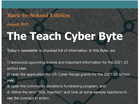 The Teach Cyber Byte - Back to School Edition