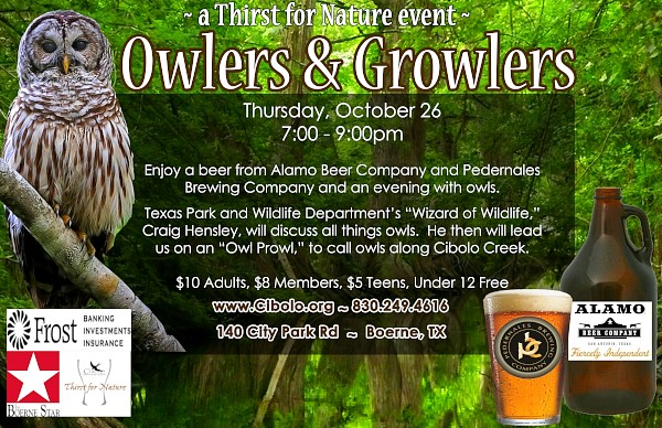 CNC: a Thirst for Nature event: Owlers & Growlers
