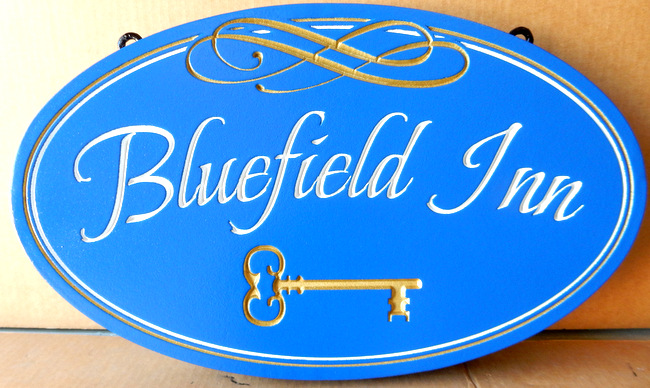 "T29128 - Engraved  Sign for the ""Bluefield Inn"""