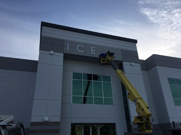 Tall building letter signs installed in Orange County CA