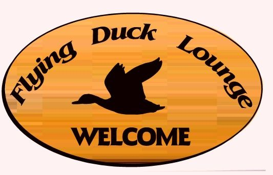 N23624-  Engraved Cedar  Flying Duck Home Bar