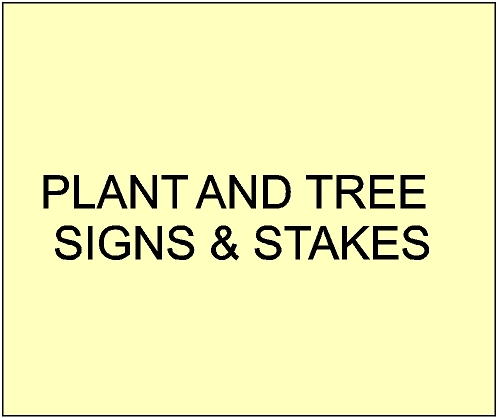5. - GA16650 -  Carved Plant and Tree  Name Signs for City, Town, Village and Private Parks & Gardens