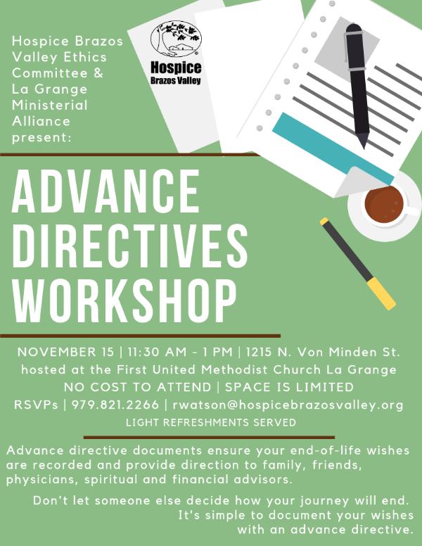 Advance Directive Workshop - La Grange