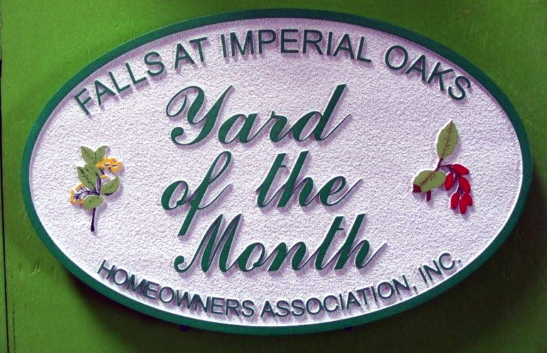 KA20910 - Falls at Imperial Oaks HOA Yard-of-Month Sign