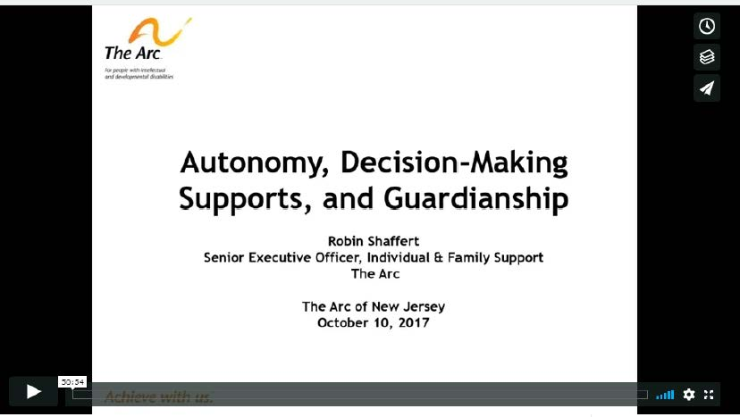 Autonomy, Decision-Making Supports, and Guardianship