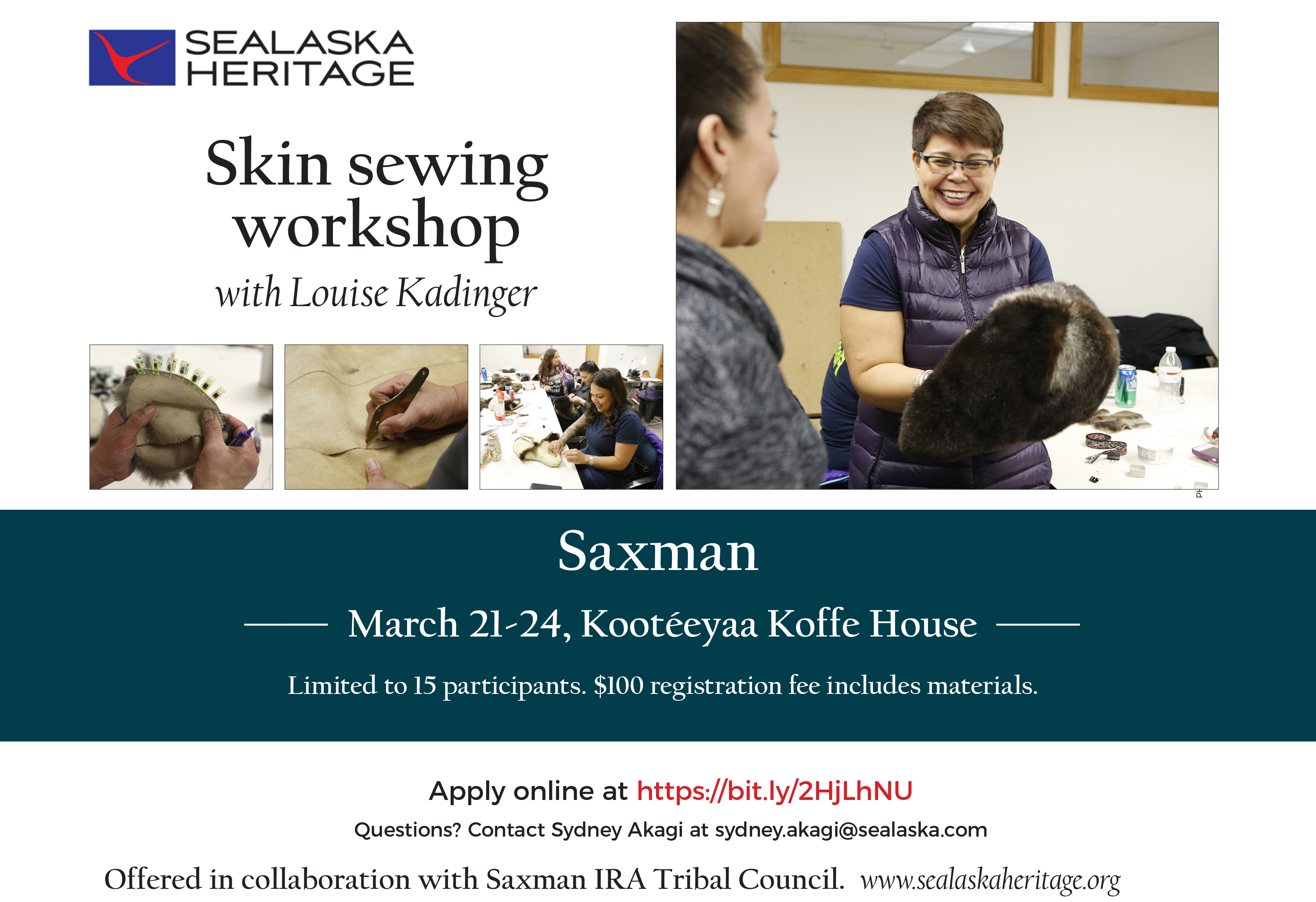 Skin Sewing Class with Louise Kadinger