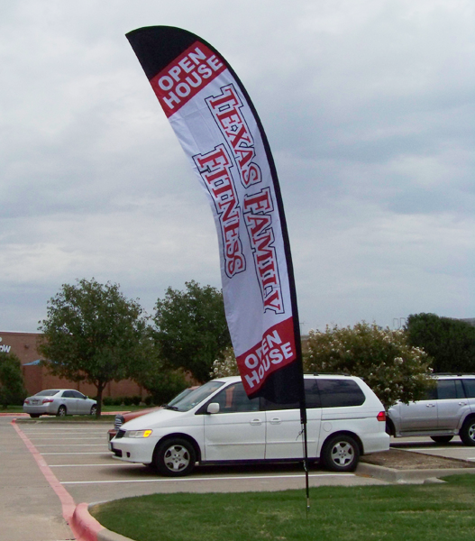 Texas Family Fitness Feather Banner