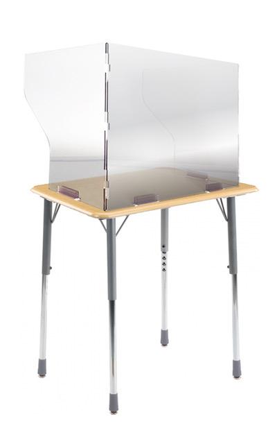 "22""w x 17.5""h x 15""d Desk Shield"