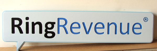 "SA28772 - Engraved  HDU Sign for ""Ring Revenue"" Company"