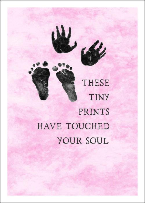 Tiny Prints Pink Notecard