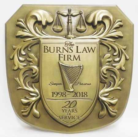MB2035 - Crest for Burns Law Firm, 3-D