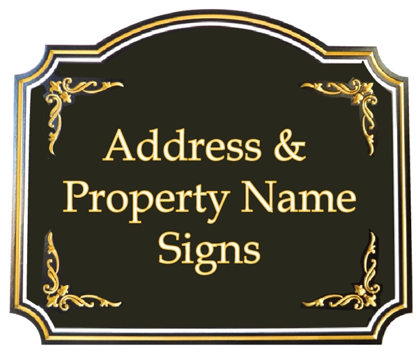 (A) - Welcome, Address and Property Name Signs for Residences, Mountain & Lake Homes, and Beachhouse and Coastal Residences