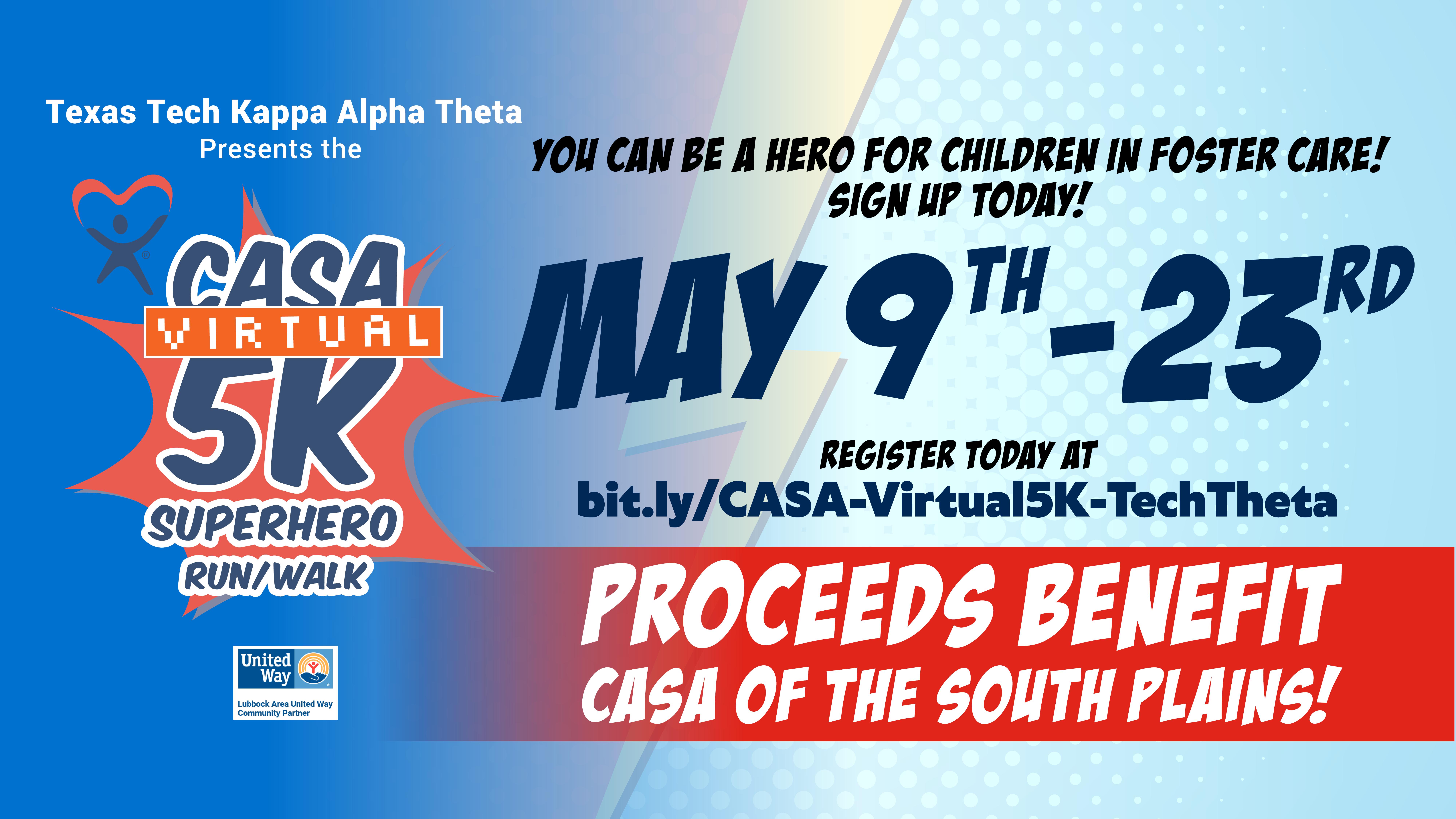 CASA Virtual 5K Superhero Run/Walk