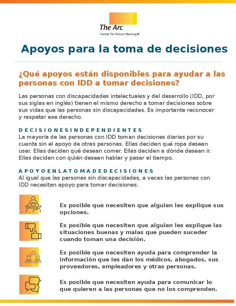 Decision-Making Supports (Apoyos para la toma de decisiones)