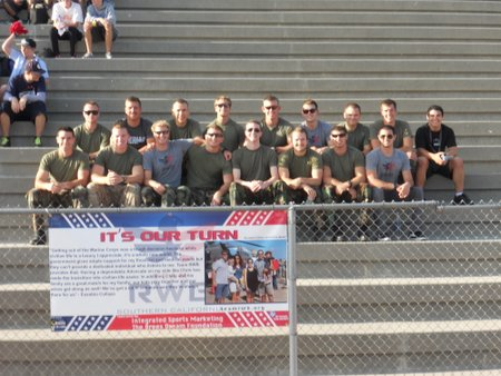 USD Navy ROTC teams led the way the throughout the night.