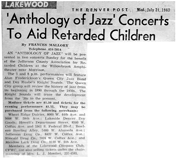 Anthology of Jazz Concerts to Aid R* Children (1963)
