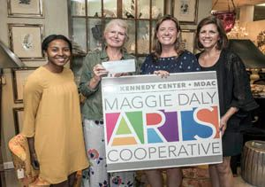 Black Rock Galleries and the Beverly Lopez Collection Donates $1,850 to The Kennedy Center's Maggie Daly Arts Cooperative