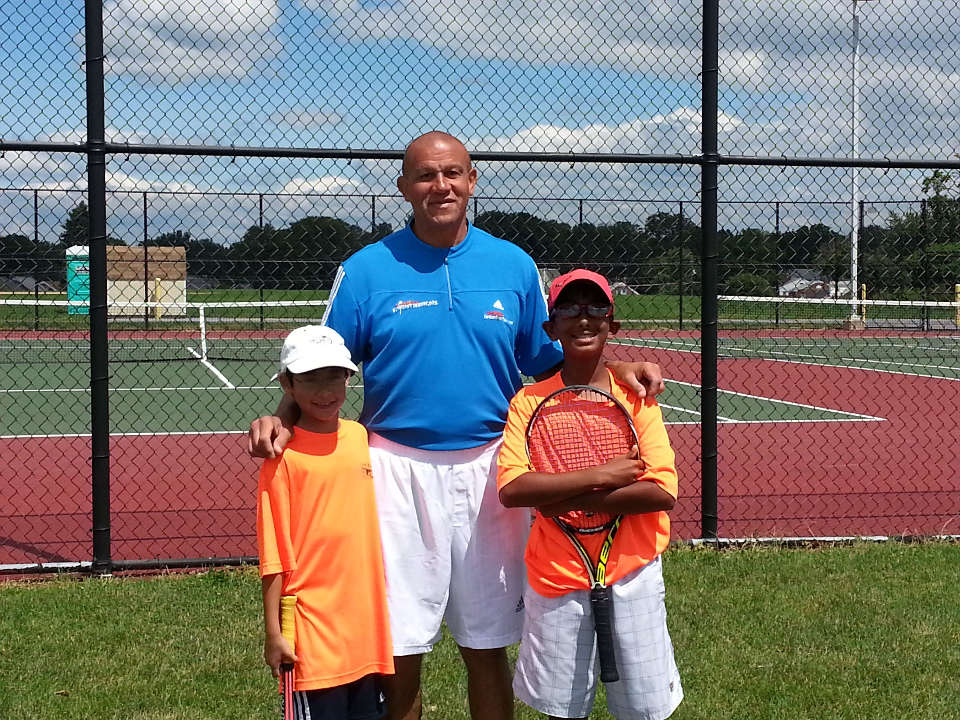 Delaware Academy youth participating in the Set Point Tennis Open