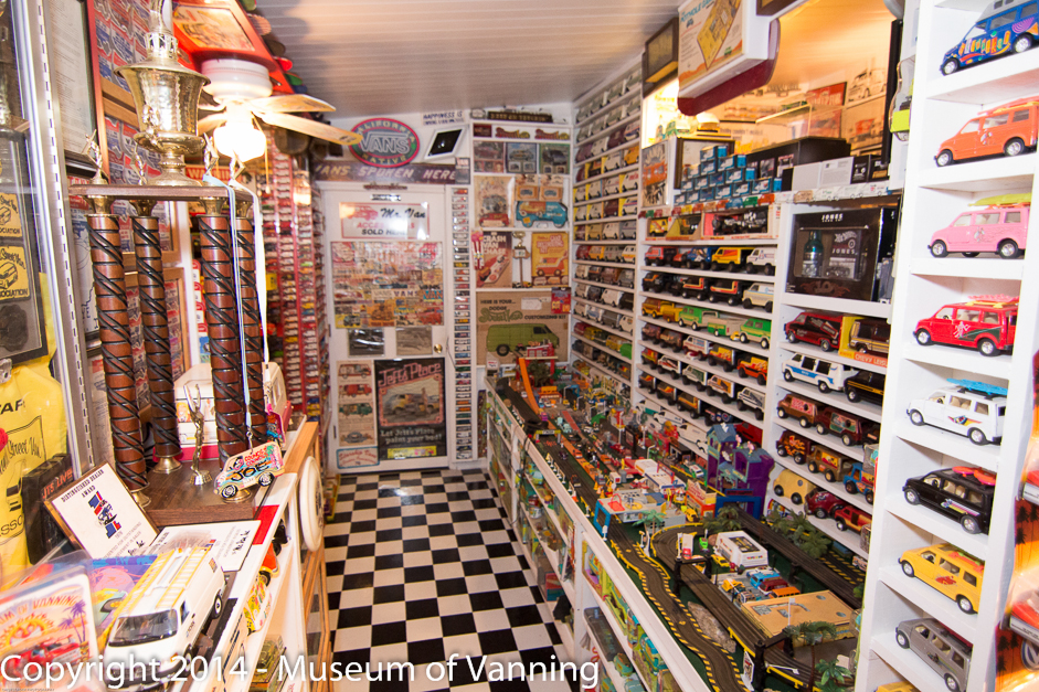 A Portion of the Museum's Toy & Model Van Collection