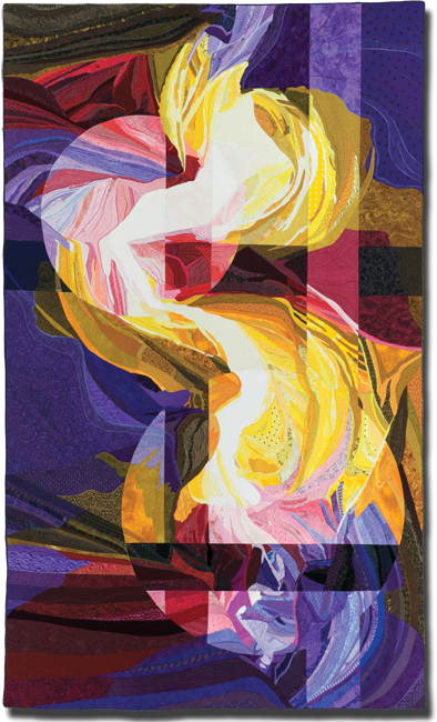 Painted Canyon, Made by Katie Pasquini Masopust, Made in Santa Fe, New Mexico, United States, 86 x 52 in, IQSC 2000.002.0001
