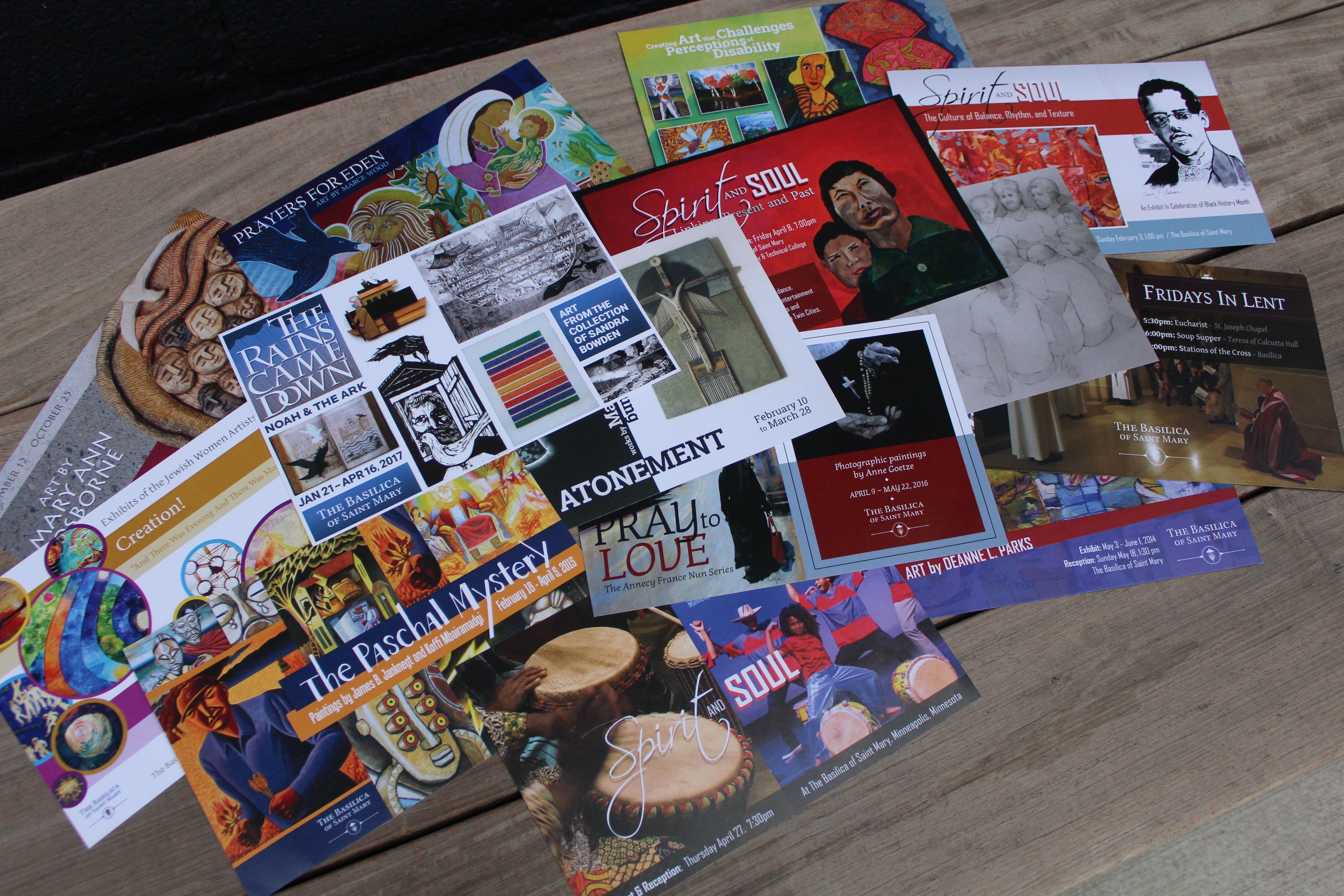 Minuteman press Central prints custom postcards