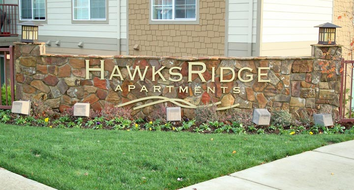 Hawk's Ridge Monument Sign