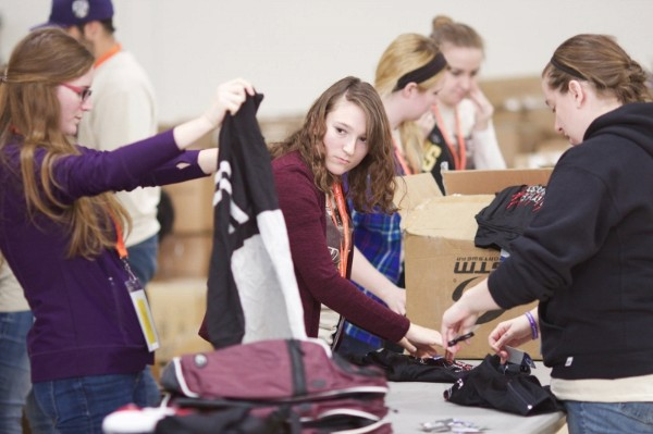Concordia University Students pack for OGT