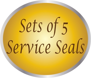 IP-1160 -  Sets of Five Carved Plaques of the Seals of the Five Armed Forces, Navy, Marines, Air Force, Army, and Coast Guard