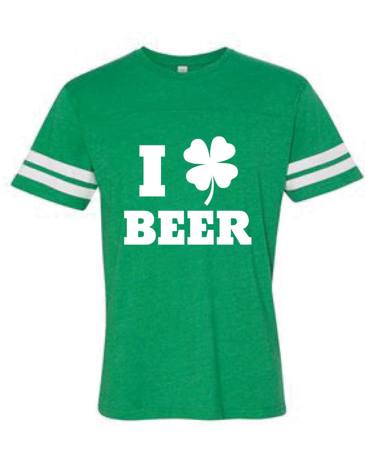 Football Style Jersey Tee (I LOVE BEER)