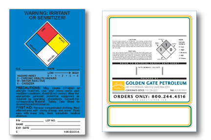 Drum & Chemical container labels