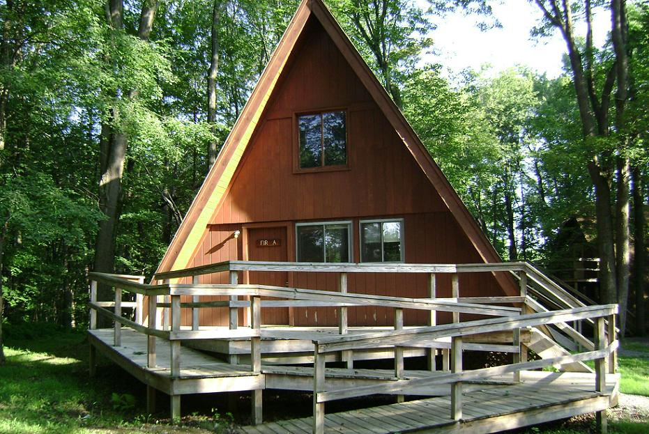 A-Frame Cabin Exterior