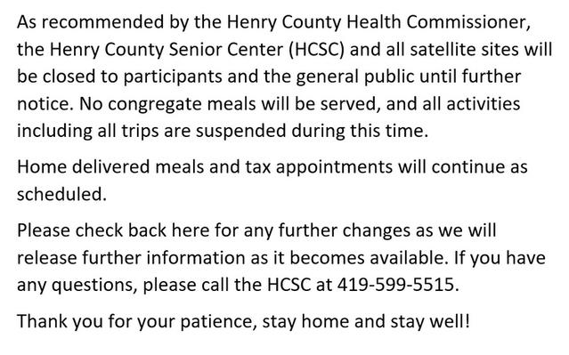 HCSC Closing Information