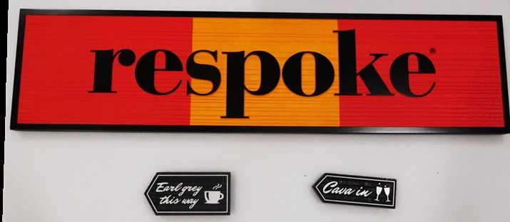 """S28125 - Carved and Sandblasted Wood Grain  HDU Commercial Sign  for the """"respoke """" Restaurant,  2.5-D Artist-Painted"""