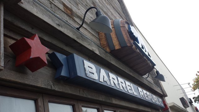Barrel Republic Exterior Sign--Side View
