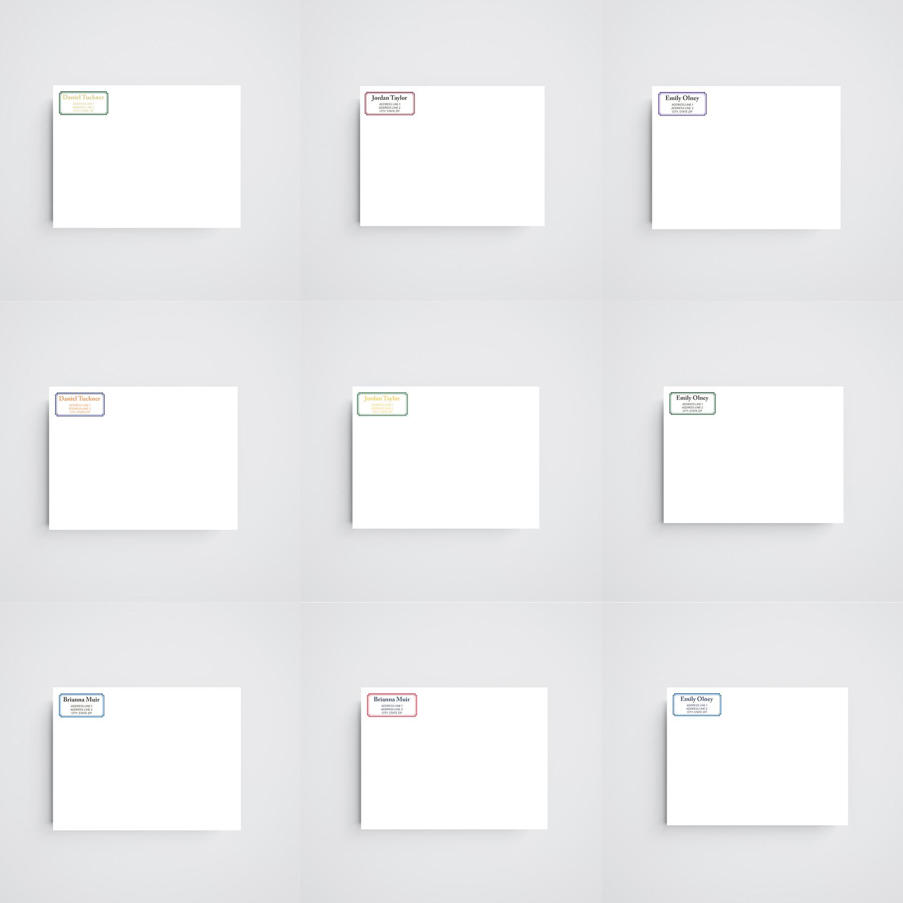 Personalized Thank You Envelopes
