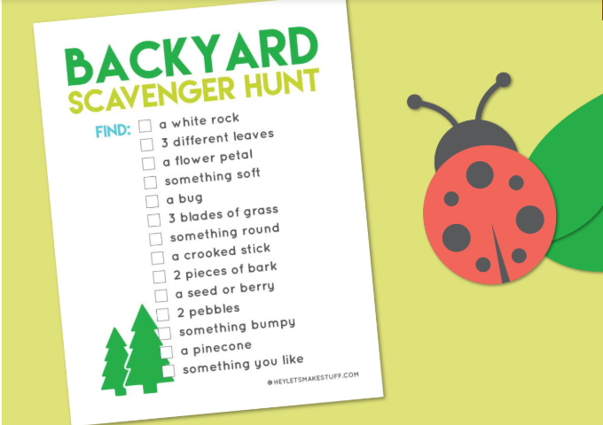 Back Yard Scavenger Hunt