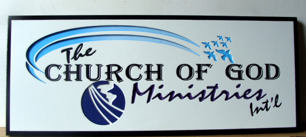 D13106 - Engraved HDU Sign for Church of God Ministries