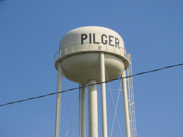 Pilger water tower left standing