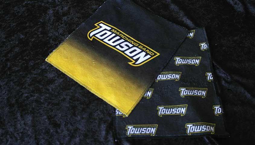 custom digitally printed logo valve towel