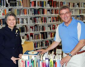 Dave and Rene with Kruh Books