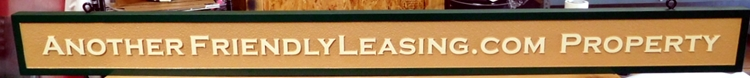C12446- Carved and Sandblasted HDU Leasing Wall Sign