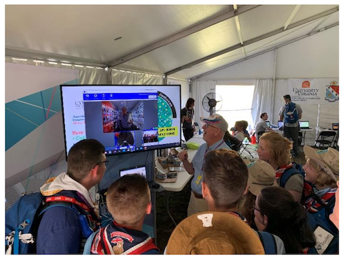 Scouts at 2019 World Jamboree Explore Cyber via Unique CCEI Booth
